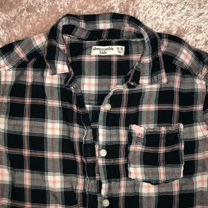 abercrombie kids Shirts & Tops - GIRLS Abercrombie &Fitch Plaid Button Up